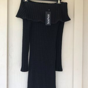 Boohoo bodycon sweater dress